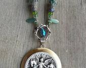 Darkest Before the Dawn- Vintage Horse Medallion Necklace