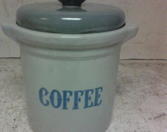 Stoneware coffee crock