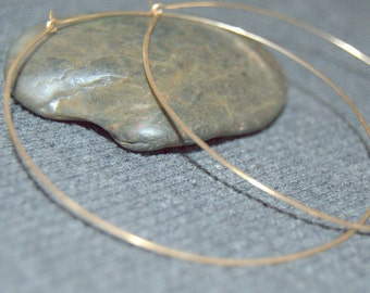 "thin gold hoop earrings, large hoop earrings gold hammered hoops, gold large hoops, wire hoop earrings 3"" hoops, 2"" hoops, 70 mm hoops"