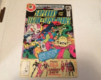 Vintage Comic Book - Superboy and the Legion of Super-Heroes - Vol 31 Issue 247 January 1979 - Savage Sanctuary! - fine condition