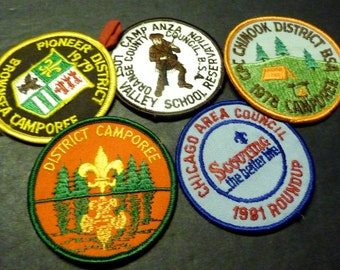 50% OFF -Boy Scouts Badges/Patches - 5 iron on- like new-