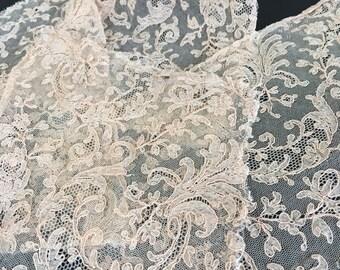 Antique Victorian or Edwardian Bobbin Lace Trim 4 Pieces