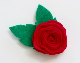 Girl's Rose Hair Clips.