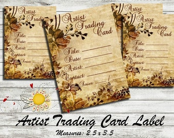 ATC  / ACEO - Artist Trading Card / Art Cards Editions & Originals - Labels [Vintage II]