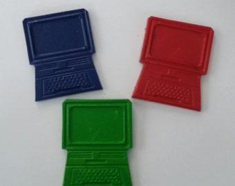 Set of 10 computer crayons birthday party favor laptop ipad crayons