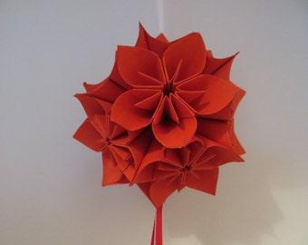 Kusudama - origami - red