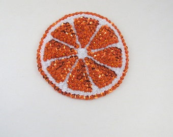 Orange Slice Magnet Glass Magnet Beaded Magnet Felt Magnet Refrigerator Magnet Kitchen Magnet