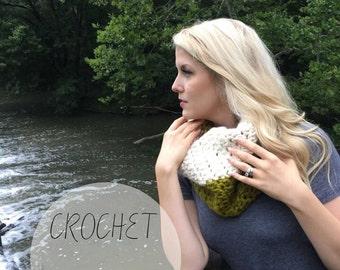 CROCHET PATTERN cowl scarf, crochet scarf, modern crochet pattern, indie crochet pattern, beginner crochet pattern, DIY pattern, gift