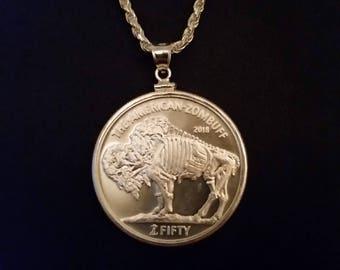 Zombucks Silver necklace