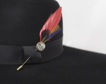 Cardinal Feather Pin