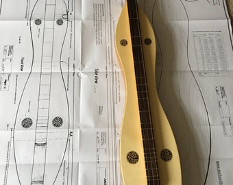 Plans for Appalachian Mountain Dulcimer Printed A0 size ( digital files on CD and rosettes optional)