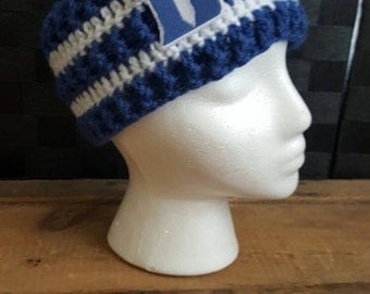 Duke Ear Warmer Duke University Crochet Ear Warmer Duke Blue Devils NCAA Basketball Duke Basketball Duke Hat Winter Crochet North Carolina