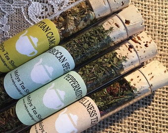 Herbal Tea, Loose leaf Tea, Tea Gift Set, Test tube teas, Sample Teas, loose leaf teas,