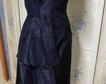 """1950s Black Evening Dress, Bust 32"""""""