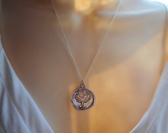 Family Tree Sterling silver chain necklace mother sister grandmother