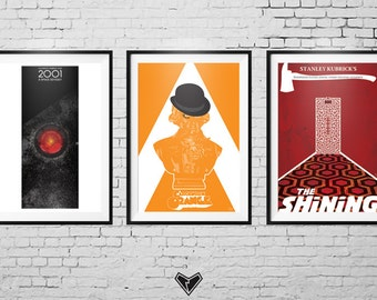 Stanley Kubrick Fanart Movie Poster collection.   2001: A Space Odyssey / The Shining / A Clockwork Orange