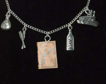 Huckleberry Finn Book Necklace - Great Gift for Book Lovers!