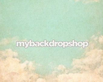 2ft x 2ft Blue Sky Backdrop for Photography - Clouds Photo Backdrop -   Vinyl or Poly - Item 1416