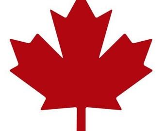 "Maple Leaf Canada 5"" Vinyl Decal Window Sticker for Car, Truck, Motorcycle, Laptop, Ipad, Window, Wall, ETC"