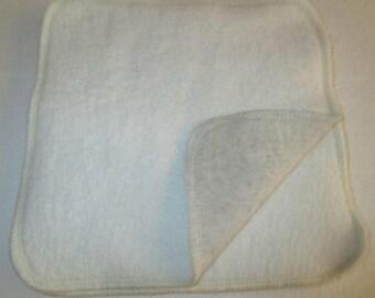 5 x Unbleached Bamboo Hemp Fleece/Jersey Man Size Unpaper Wipes 20 x 20cm  - Australian Made