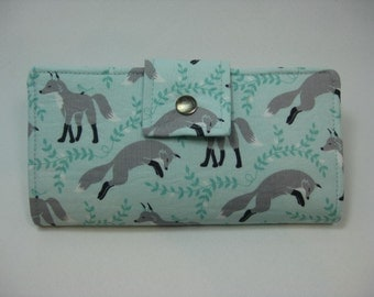 Fox Wallet, Womens  Wallet,  Ladies Bifold Clutch
