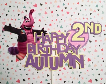 Inside Out Happy Birthday Cake Topper, Inside Out Birthday Banner, Inside Out Birthday, Personalized Cake Topper, Inside Out Decorations