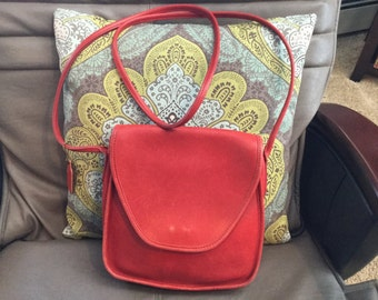 Vintage Rare Red Coach Lindsay Crossbody Handbag Purse USA 146