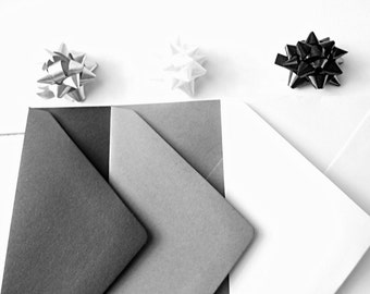 Envelope set, Envelopes in 3 colors, Self-adhesive envelopes, Envelope set, Mix & match