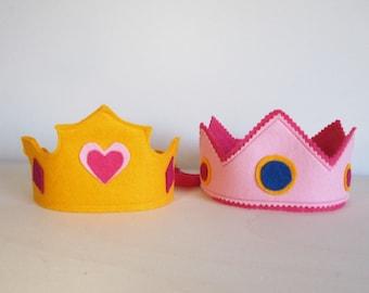 Felt crown, mod. princess heart