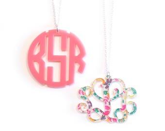 Personalized Pendant Monogram Necklace