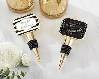 24+ Personalized Gold Metal Wine Bottle Stopper, Classic Design Wedding Favors, Bottle Stopper Wedding Favors (11189GD-CL)
