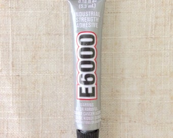 Clear E6000 Mini Tube Adhesive Waterproof Glue Great For Bonding Jewelry and Other Crafts .18 fl oz
