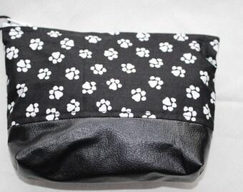 Cosmetic/Makeup Bag with Dog Paw Print