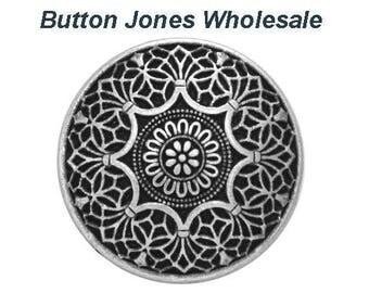 50 pcs. Safi 7/8 inch ( 23 mm ) Metal Buttons Antique Silver Color