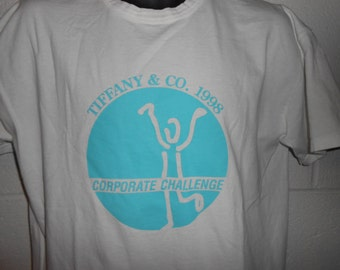 Vintage 90s 1998 Tiffany & Co Corporate Challenge Running T-Shirt Large