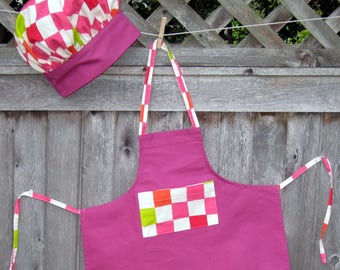 Matching Childs apron and Chef hat
