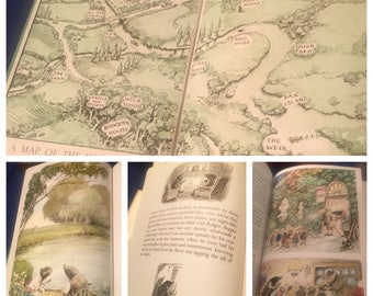 1950s The Wind in the Willows by Kenneth Grahame - vintage
