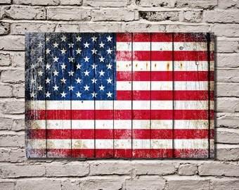 Patriotic Wall Art   Patriotic Home Decor   Man Cave   Americana Gifts    American Flag