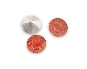 Swarovski crystal Padparadcha 1028 Xilion SS39 (8mm) round-conical bottom ss 39
