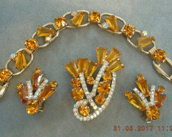 JULIANA Keystone Set - mint - bracelet - brooch & earrings