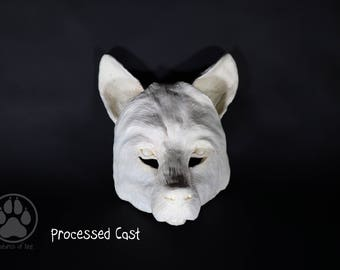 Made to order RAW Blank Wolf Mask - Resin