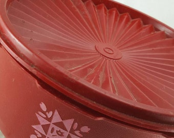 Vintage Red Tupperware #1204-24 Collectible Canisters Red Tupperware