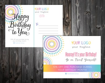"Birthday Postcard 4x5.5"" - Dotted"