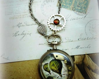 Necklace long vintage steampunk, poetic, reworked gusset