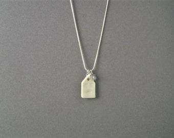 porcelain necklace. ceramic necklace.house necklace. ceramic jewellery. porcelain jewelry. house pendant. miniature house.housewarming gift.