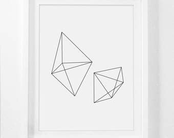 Geometric Print, Black and White Prints, Abstract Print, Black and White Geometric Print, Geometric Artwork, Minimalist Prints, Printable