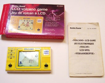 Radio Shack Volcano LCD Handheld Electronic Game in Original Box 1989 Vintage