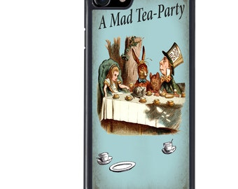 iPhone 5 5s 6 6s 6+ 6s+ SE 7 7+ iPod 5 6 Phone Case, Alice in Wonderland Design, Mad Hatter, Plus