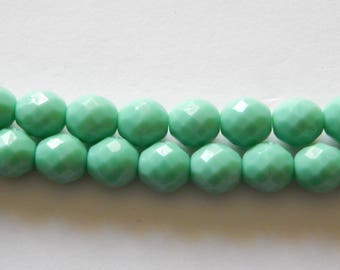 10mm Faceted Oval Czech Glass Beads