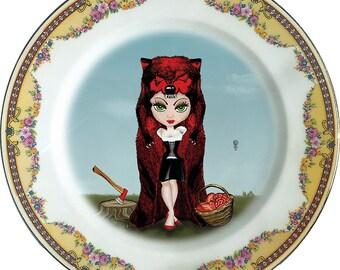 Rubricapula - Little Red Riding Hood - Vintage Porcelain Plate - #0381